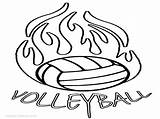 Volleyball Coloring Pages Court Printable Sports Clipartmag Getcolorings Player sketch template