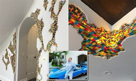 jake paul  lego wall art installed   calabasas