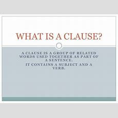 What Is A Clause