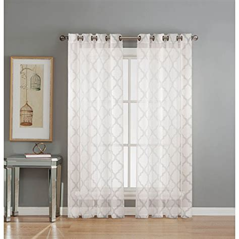 White Living Room Curtains Amazoncom