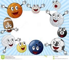 Cartoon Sport Balls Photo Frame Royalty Free Stock Photos ...