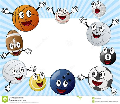 Cartoon Sport Balls Photo Frame Stock Vector ...
