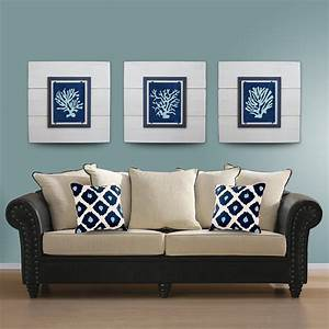 Salecoral wall art set of white framed xtra large