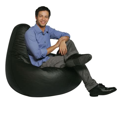 bean bag factory black vinyl bean bag chair skin