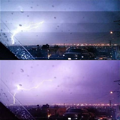 storm brings lightning rain snow  southern california