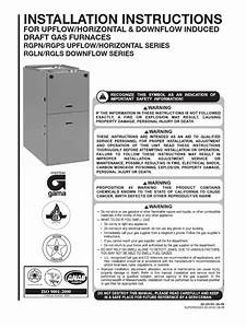 Rheem Gas Furnace Installation Manual