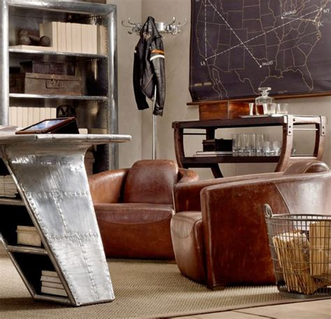 Restoration Hardware Aviator Desk Chair by Plane Style