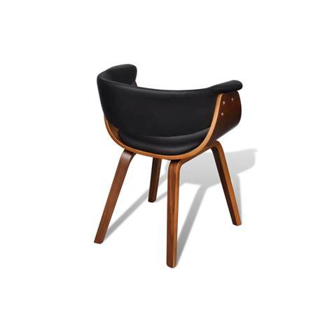 chaise cuir et bois ensemble de 6 chaises en bois et dossier en simili cuir