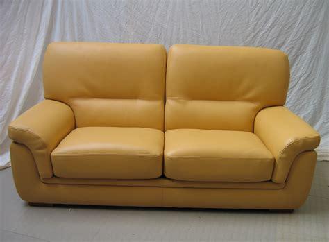 canap cuir jaune corinthe ensemble grand 2 places petit fauteuil l