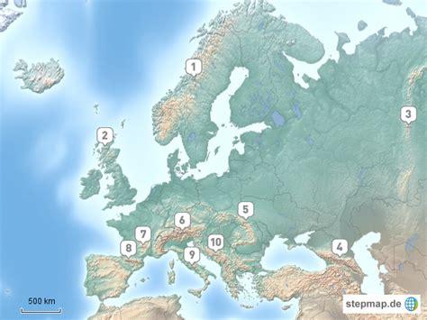gebirge europa von voit landkarte fuer deutschland