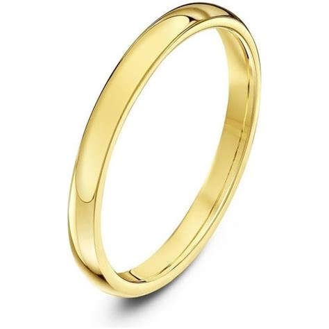 9ct yellow gold heavy weight court shape 2mm wedding ring