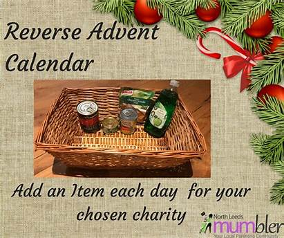 Advent Christmas Reverse Calendar Box Put Each