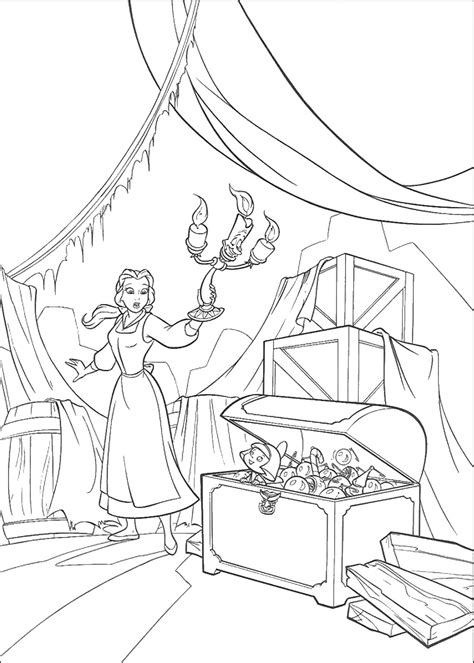 beauty   beast coloring pages