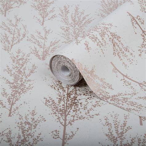 superfresco easy rose gold trees glitter effect wallpaper