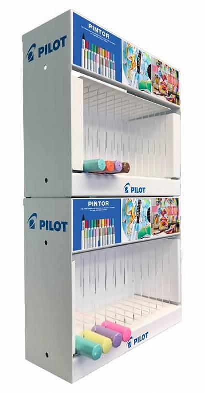 Display Pen Counter Dispenser Shelf Impulsepop Metal