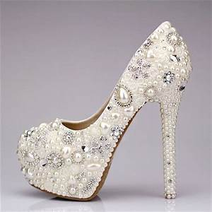 Shoe Crystal Rhinestone Pearl Wedding Shoes 2047494