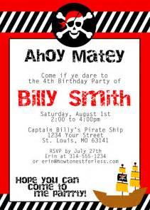 Free Printable Pirate Birthday Party Invitations