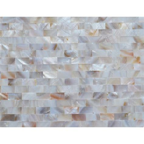 mother of pearl tile shower liner wall backsplash