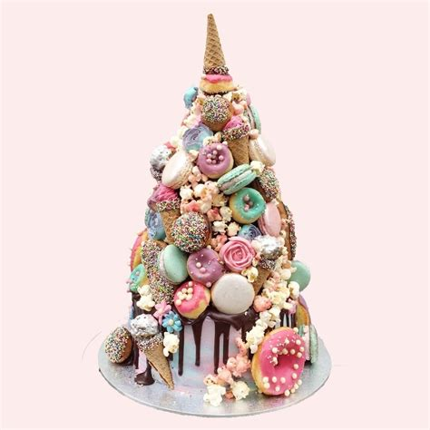 unicorn croquembouche wedding cake  positively