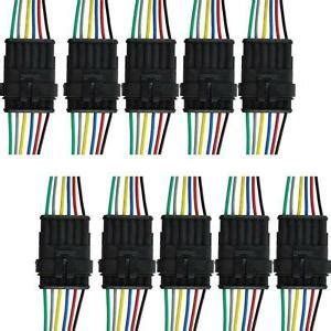 Pin Way Sealed Waterproof Electrical Wire Connector Plug