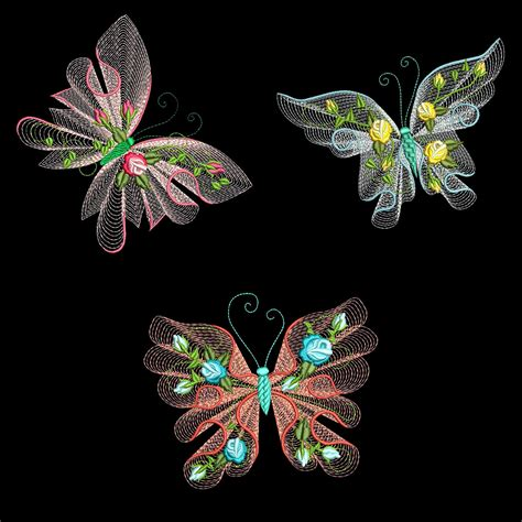 embroidery machine designs flutterby 1 30 machine embroidery designs azeb