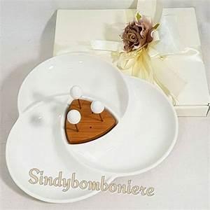 Bomboniere Utili Matrimonio Antipastiera Ceramica Bianca