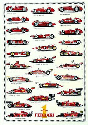 See the ferrari surname, family crest & coat of arms. Rare Ferrari F1 WORLD CHAMPIONS 1952-2002 HUGE Wall Chart Auto Racing Poster | eBay