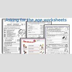 English Teaching Worksheets Asking For The Age