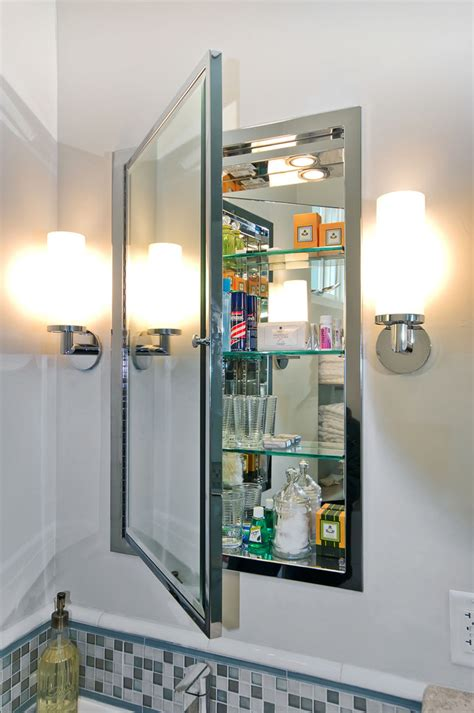 bathroom vanity mirror ideas cool recessed medicine cabinets in bathroom modern with