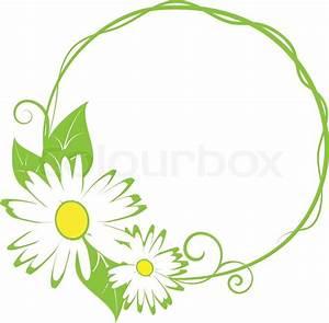 Funny spring floral border vector illustration Stock