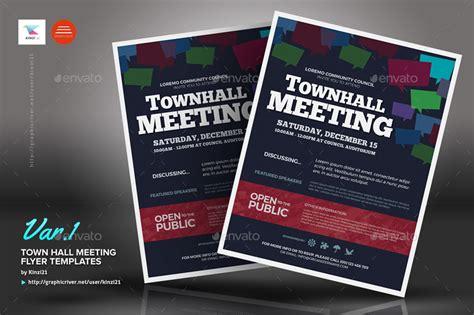 town hall meeting flyer templates  kinzi graphicriver