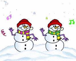 Animated Christmas Gifs 3 - Snow - Snowman - Snowballs