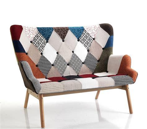 divanetto 2 posti divanetto moderno particolare patchwork 2 posti