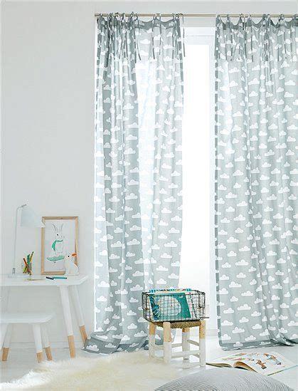 babyzimmer günstig kaufen tolle gardinen aus baumwolle f 252 rs kinderzimmer die gardine hat oben 40 cm lange bindeb 228 nder und