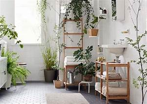 decoration salle de bain a laide dutiles et belles With affiche chambre bébé avec plantes vertes a fleurs
