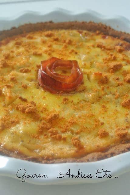 mes gourm andises etc tarte aux pommes caram 233 lis 233 es p 226 te sabl 233 e aux sp 233 culoos et cr 232 me a