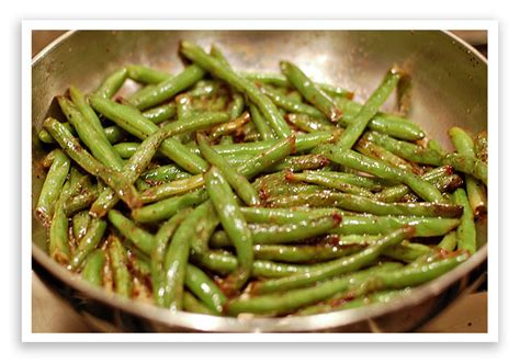 sauteed green beans  wears  hats
