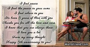 I find peace, 5th Anniversary Poem