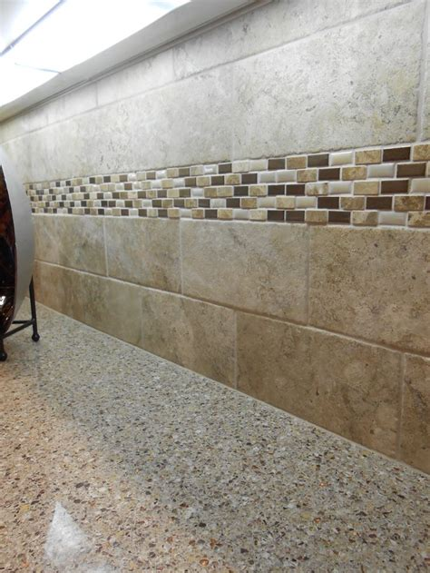 natural stone subway  natural stone accent strip