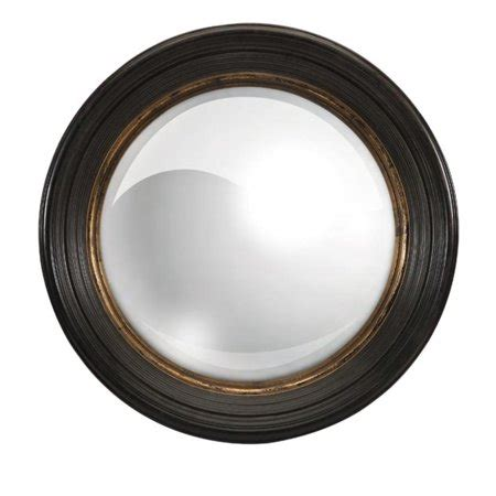 """The ample size of this large wall mirror makes a great accent decor centerpiece in an entryway, living room, or dining room and is easy and ready to hang by the keyhole hardware in the back. 25.5"""" Classic Black and Gold Round Decorative Wall Mirror ..."""