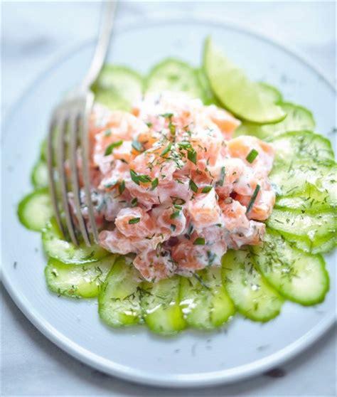de cuisine espagnole carpaccio concombre tartare saumon recette gourmand