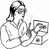 Lab Technician Coloring Pages sketch template