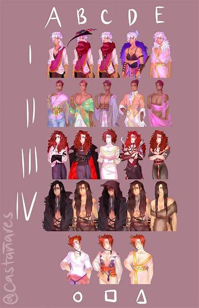 Characters Arcana Genderbent Outfits Board Novel Visual