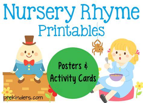 nursery rhyme printables prekinders 521 | nursery rhyme printables