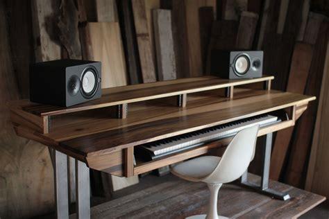 large modern wood recording studio desk  composer