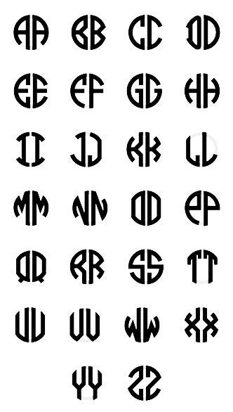 mm  letter block monogram necklace