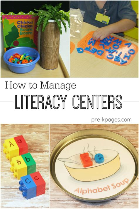 preschool literacy activities how to manage literacy centers 837
