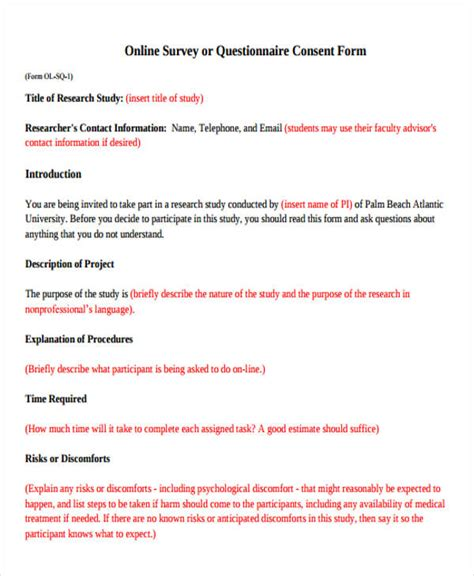online survey form 48 exles of survey forms word pdf