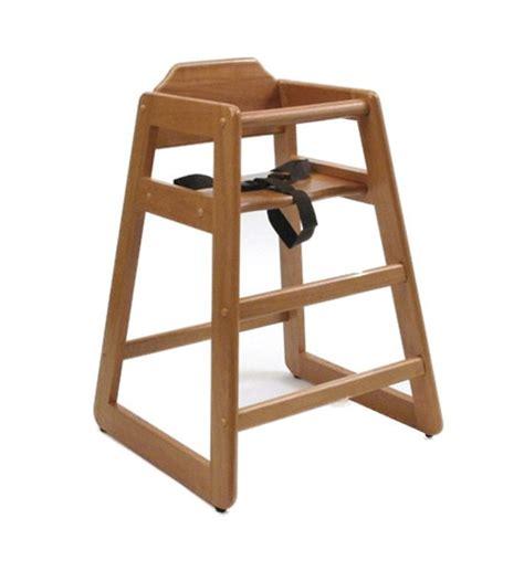 restaurant style high chair pecan