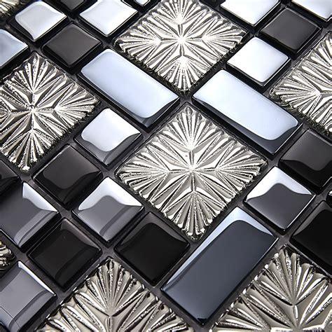 glass kitchen backsplash tiles metal coating mosaic tiles design glass tile bedroom